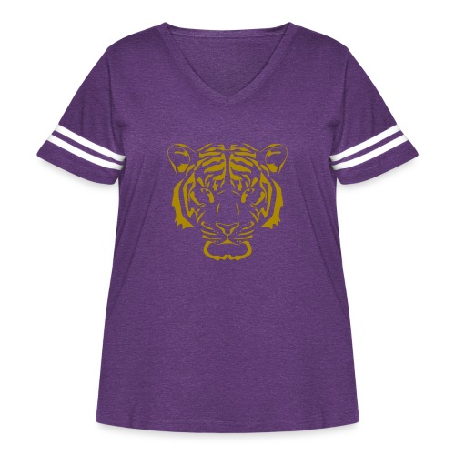 Tiger head - Women's Curvy Vintage Sport T-Shirt