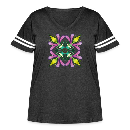 Glowing insects meeting in the middle of the night - Women's Curvy Vintage Sport T-Shirt