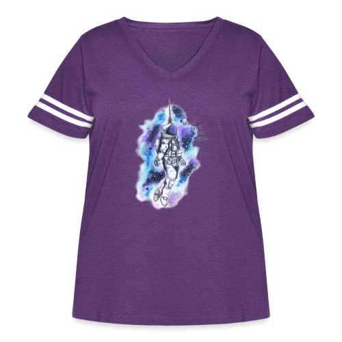 Get Me Out Of This World - Women's Curvy Vintage Sport T-Shirt