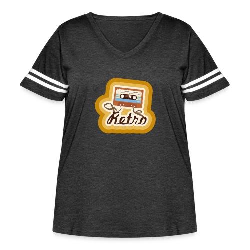 Retro-Cassette - Women's Curvy Vintage Sport T-Shirt