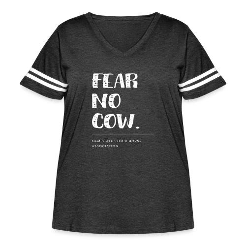 Fear no cow. - Women's Curvy Vintage Sport T-Shirt