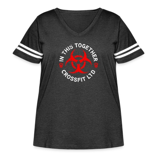 inThisTogether - Women's Curvy Vintage Sport T-Shirt