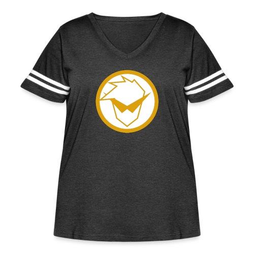 FG Phone Cases (Pure Clean Gold) - Women's Curvy Vintage Sport T-Shirt