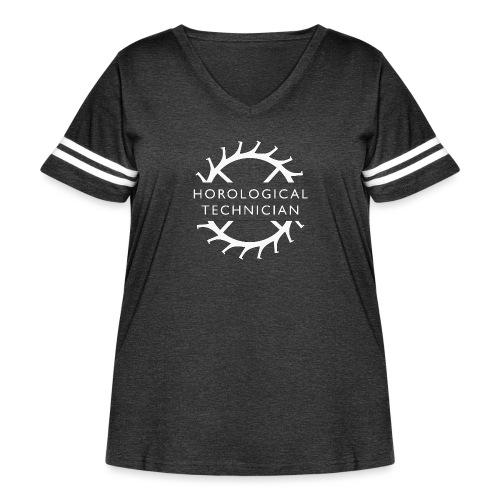 Horological Technician - White - Women's Curvy Vintage Sports T-Shirt
