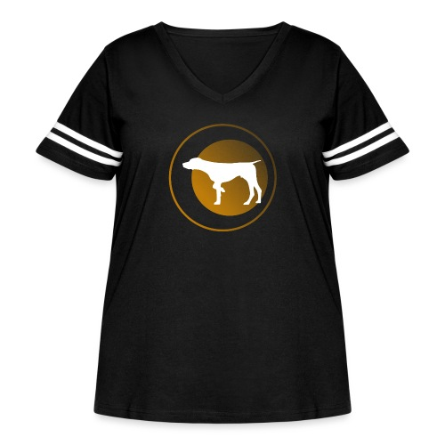 German Shorthaired Pointer - Women's Curvy Vintage Sport T-Shirt