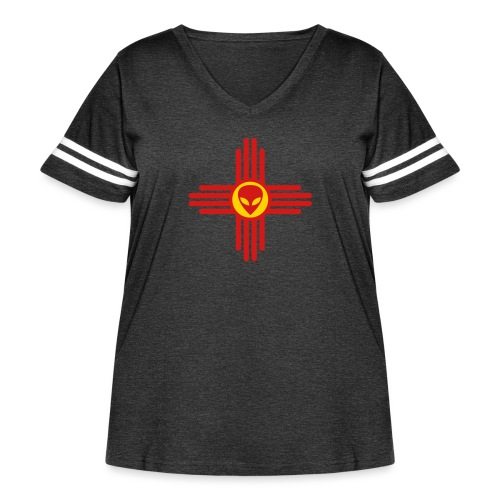 UFO New Mexico - Women's Curvy Vintage Sport T-Shirt