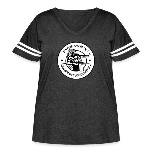 NAGA Logo - Women's Curvy Vintage Sport T-Shirt