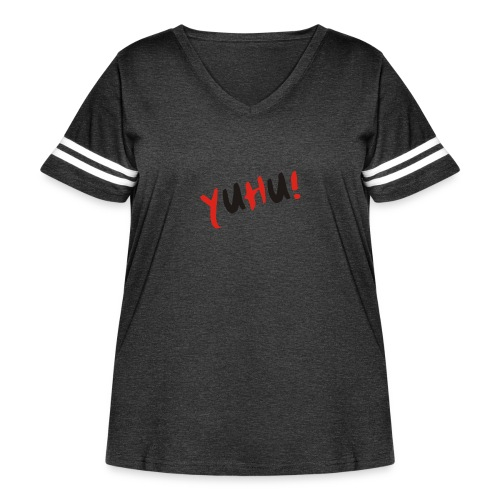 Yuhu! The design for young and smart generation - Women's Curvy Vintage Sports T-Shirt