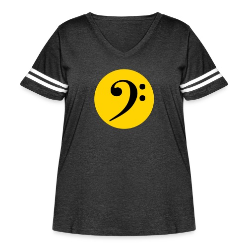 Bass Clef in Circle - Women's Curvy Vintage Sport T-Shirt