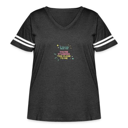 Fight Corona - Women's Curvy Vintage Sport T-Shirt