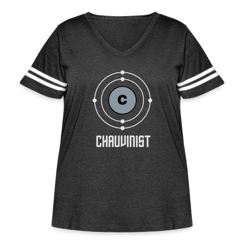 Carbon Chauvinist Electron - Women's Curvy Vintage Sport T-Shirt