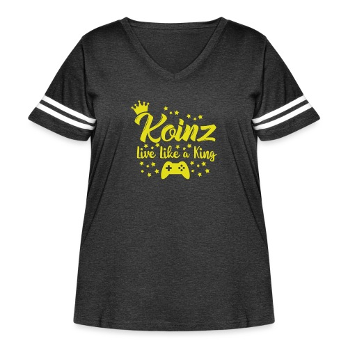 Live Like A King - Women's Curvy Vintage Sport T-Shirt