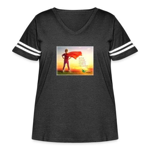 Education Superhero - Women's Curvy Vintage Sport T-Shirt