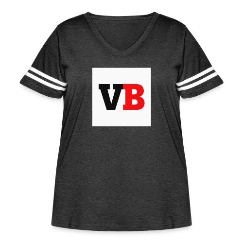 Vanzy boy - Women's Curvy Vintage Sport T-Shirt