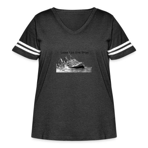 Enron Scandal Joke - Women's Curvy Vintage Sport T-Shirt