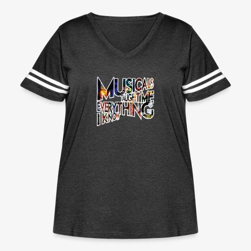MTMEIK Broadway - Women's Curvy Vintage Sport T-Shirt
