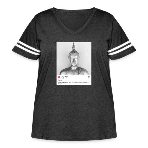 BUDDHA - Women's Curvy Vintage Sport T-Shirt