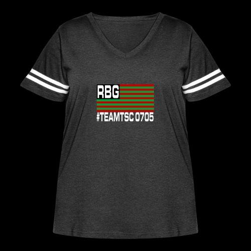 TeamTSC RBGFlag 2 - Women's Curvy Vintage Sport T-Shirt