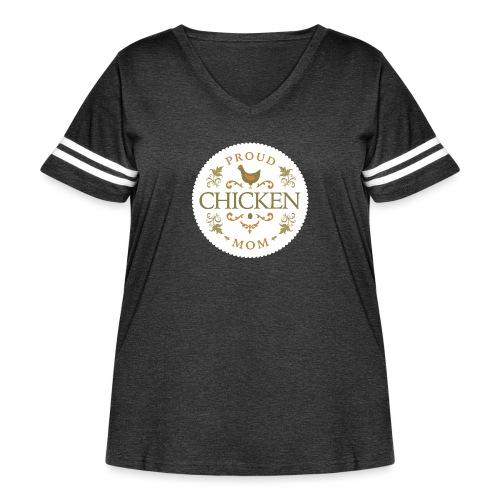 proud chicken mom - Women's Curvy Vintage Sport T-Shirt