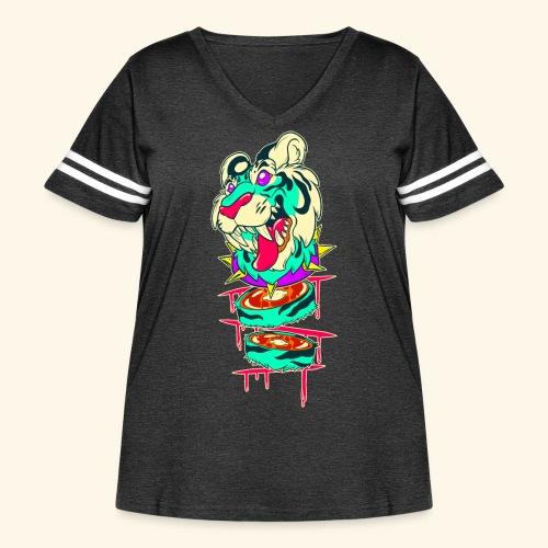 - Decaptiger - - Women's Curvy Vintage Sport T-Shirt