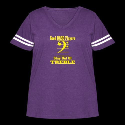 bass players stay out of treble - Women's Curvy Vintage Sport T-Shirt