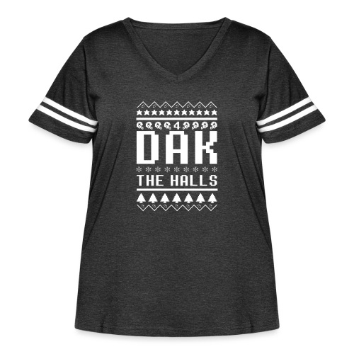 Dak The Halls Ugly Christmas Sweater - Women's Curvy Vintage Sport T-Shirt
