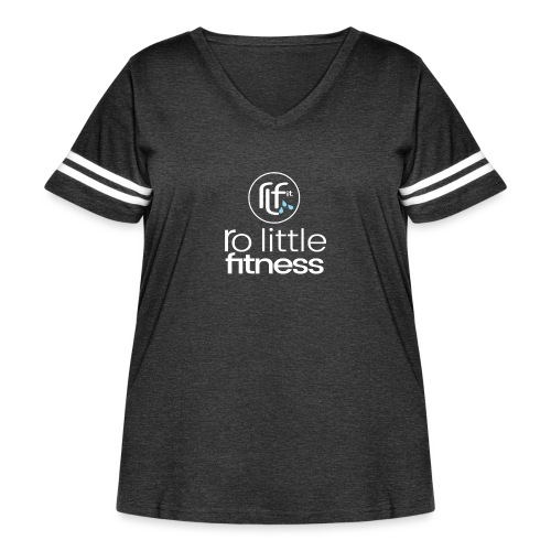 Ro Little Fitness - outline logo - Women's Curvy Vintage Sport T-Shirt