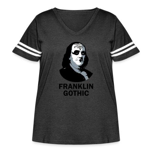 Franklin Gothic - Women's Curvy Vintage Sport T-Shirt