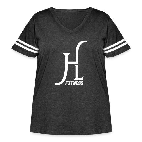 HLF Vector WHT - Women's Curvy Vintage Sport T-Shirt