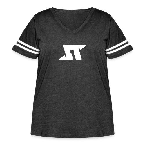 Spaceteam Logo - Women's Curvy Vintage Sports T-Shirt