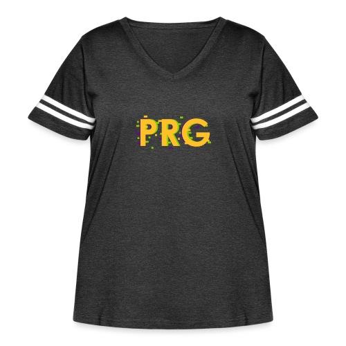 PRG distorted Neon libertarian Design - Women's Curvy Vintage Sport T-Shirt