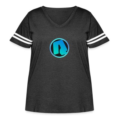 Channel Logo - qppqrently Main Merch - Women's Curvy Vintage Sport T-Shirt