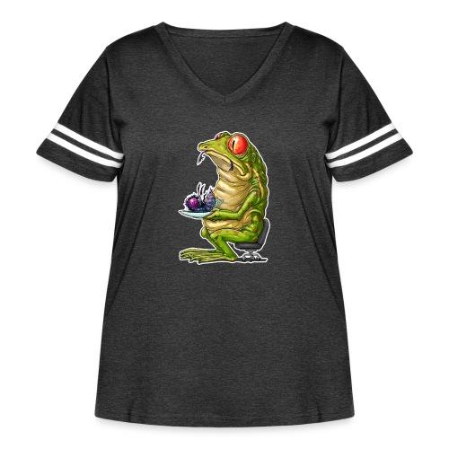 FrogLunch - Women's Curvy Vintage Sport T-Shirt