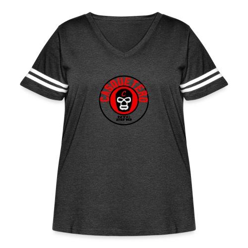 Circular Logo - Women's Curvy Vintage Sport T-Shirt