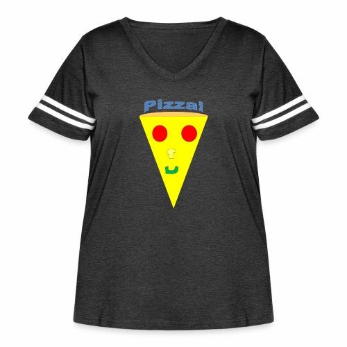 pizzalogo - Women's Curvy Vintage Sport T-Shirt