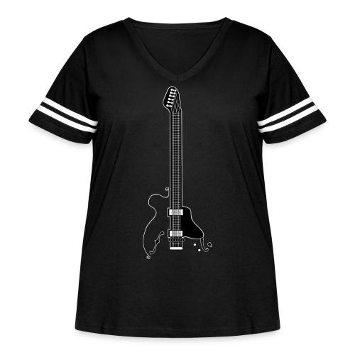 Electric Guitar - Women's Curvy Vintage Sport T-Shirt