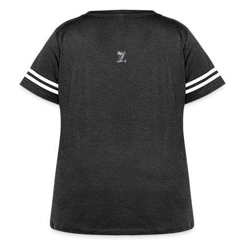 Zawles - metal logo - Women's Curvy Vintage Sport T-Shirt
