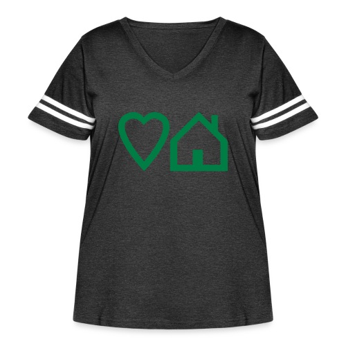 ts-3-love-house-music - Women's Curvy Vintage Sport T-Shirt