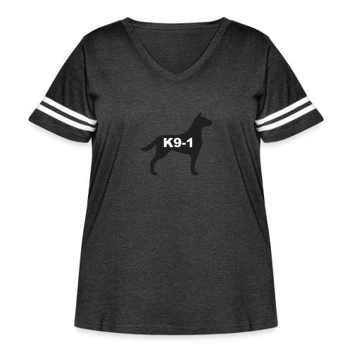 K9-1 logo - Women's Curvy Vintage Sport T-Shirt
