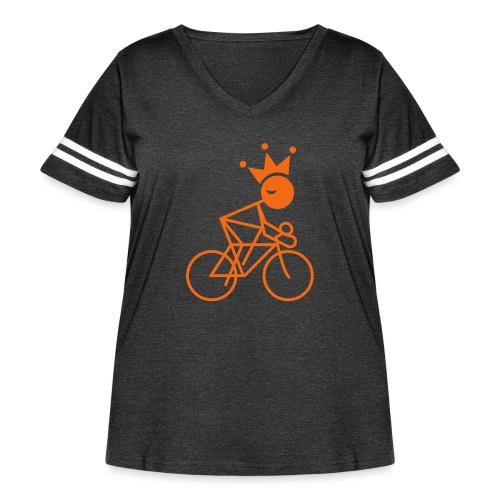 Winky Cycling King - Women's Curvy Vintage Sport T-Shirt