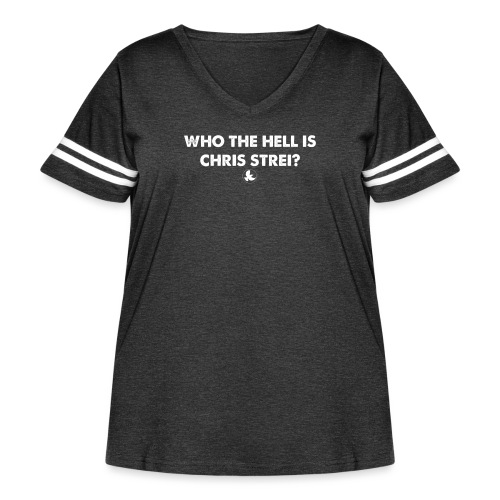 WHO THE HELL IS - Women's Curvy Vintage Sport T-Shirt