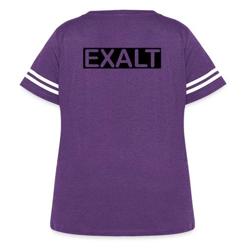 EXALT - Women's Curvy Vintage Sport T-Shirt