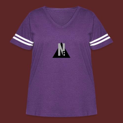 Basic NF Logo - Women's Curvy Vintage Sport T-Shirt