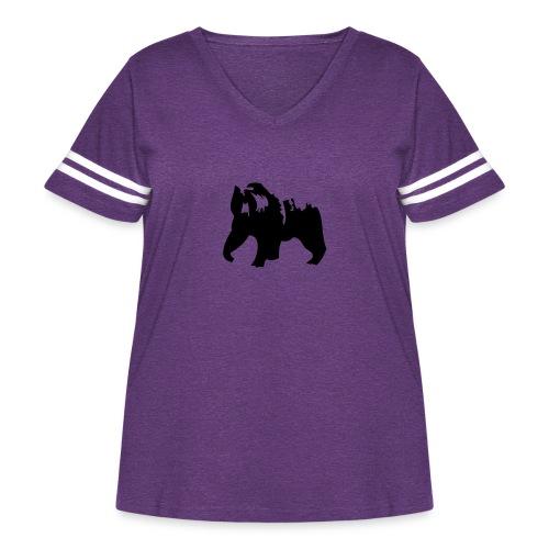 Grizzly bear - Women's Curvy Vintage Sport T-Shirt
