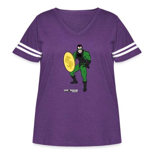 Superhero 4 - Women's Curvy Vintage Sport T-Shirt