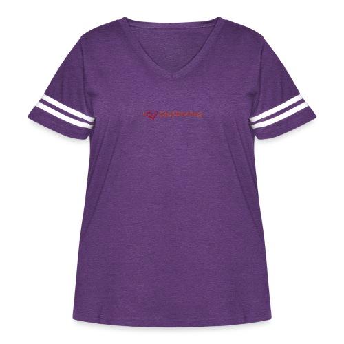 I love skydiving T-shirt/BookSkydive - Women's Curvy Vintage Sport T-Shirt
