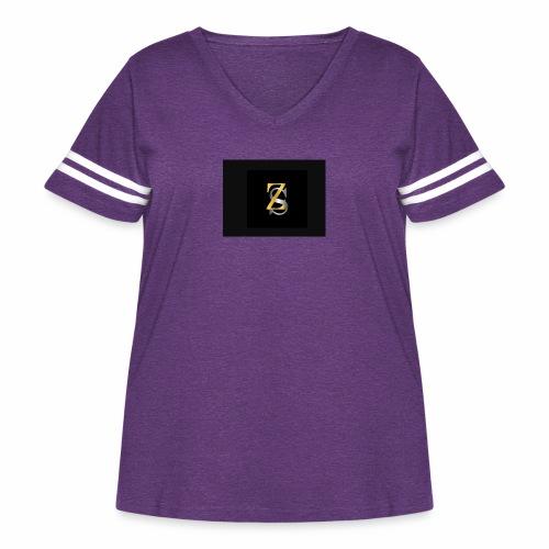 ZS - Women's Curvy Vintage Sport T-Shirt