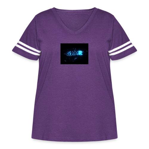 IMG 0443 - Women's Curvy Vintage Sport T-Shirt