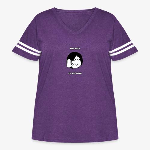 Jo Baka - Είμαι Πόντια Και Μου Φτάνει - Women's Curvy Vintage Sport T-Shirt
