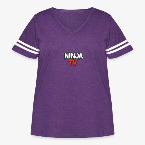 NINJA TV - Women's Curvy Vintage Sports T-Shirt